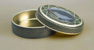 قوطی فلزی زعفران دایره